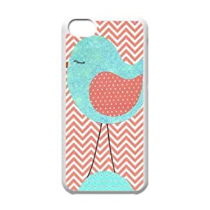 Coral Chevron ZLB550366 Customized Phone Case for Iphone 5C, Iphone 5C Case
