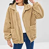XOWRTE Women's Oversized Pockets Warm Winter Zip