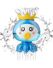 HellDoler Badleksak, baby bad leksaker spel småbarn badkar leksak fontän vatten dusch leksak dusch rörlig badleksak vatten lek leksaker för 1 2 3 4 5 år gamla småbarn barn pojkar flickor