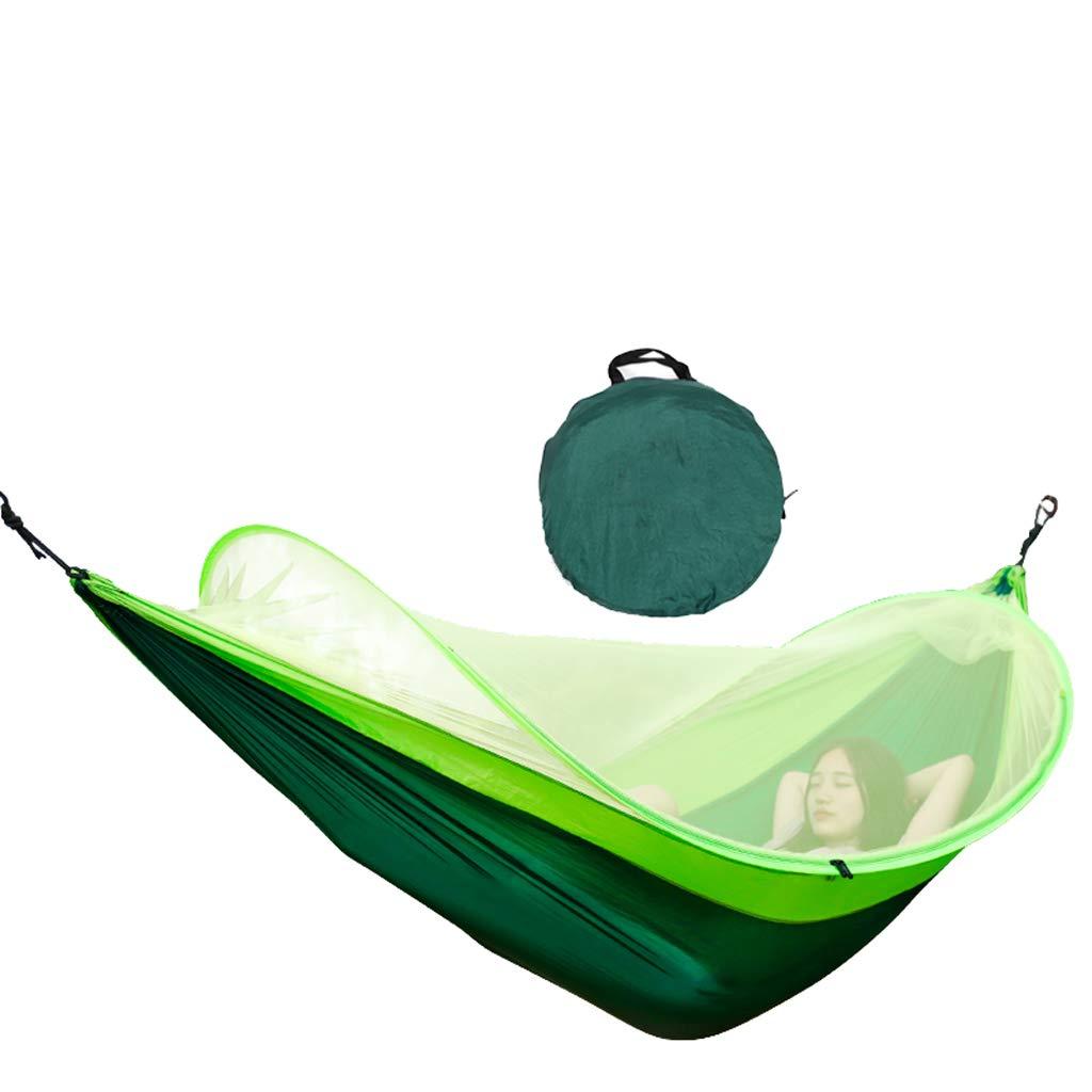 DaQingYuntur 軽量でポータブル、スタイリッシュな収納、蚊帳ハンモック屋外キャンプダブルパラシュート布屋内寮寝室スイング、大人の寝椅子、キャンプスイング、軽量体重ベアリング、レジャーと快適さ (色 : A)  A B07PQG5VL2