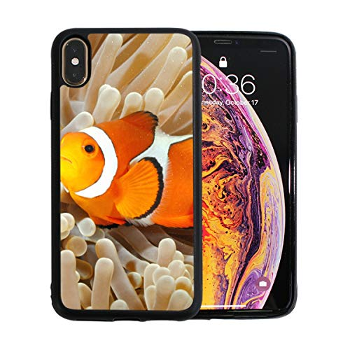 (Clown Fish Anemone and Clown iPhone Xs Max Case Screen Protector TPU Hard Cover with Thin Shockproof Bumper Protective Case for iPhone Xs Max 6.5 Inch)
