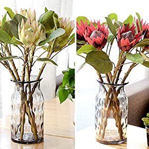 WillowswayW 1Pc Artificial Flower King Protea Fake Plant DIY Wedding Party Home Decor 48