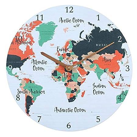 graphic regarding Unf Printable Map titled Map Print Wall Clock -International Map - Neat Residence Decor Inside