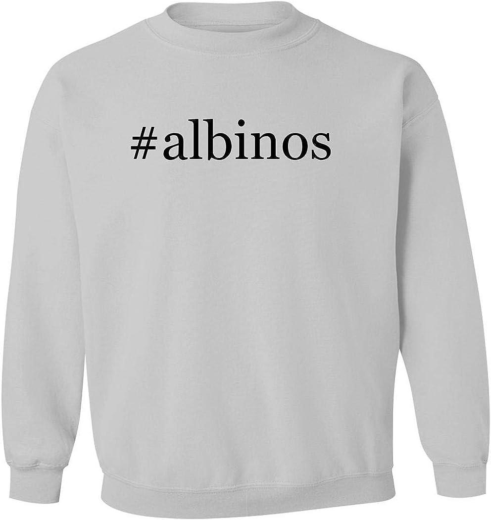 #albinos - Men's Hashtag Pullover Crewneck Sweatshirt, White, Small 51hQvecXwDL