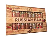 Russian Bar - 16 pieces Russian Chocolate with Assorti type filling flavored like Alcoholic drinks: plum liqueur, vodka, mead, cherry brandy, cahors, and Armenian, cranberry, and ashberry cognac