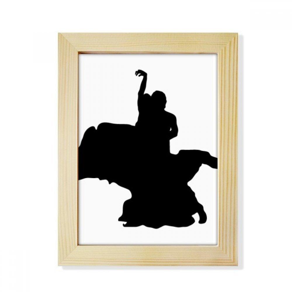 Dancer Duet Dance Art Performance Desktop Wooden Photo Frame Picture Art Painting 6x8 inch