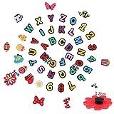 116 Pcs Shoes Charms Decorations, 52Pcs Letter Shoe