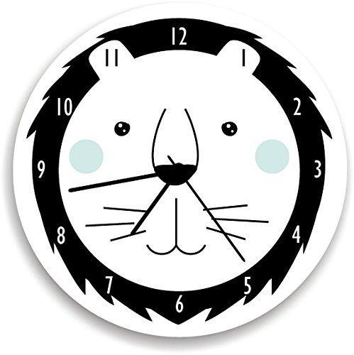 Boy Wall clock Baby nursery wall Clock Nursery wall clock for kids room,LION wall clock Personalized baby boy WALL CLOCK The lion king