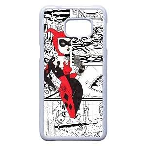 Harley Quinn B3P6Vq Funda Samsung Galaxy S6 Edge Plus Nota 5 Borde caja del teléfono celular funda funda blanca de casos O8U5SK para los teléfonos celulares