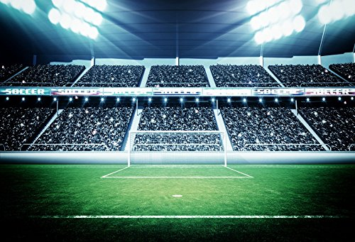 - Yeele Football Court Backdrops 9x6ft /2.7 X 1.8M Lawn Spotlight Football Field Sports Club Stadium Pictures Adult Artistic Portrait Photoshoot Props Photography Background Wallpaper