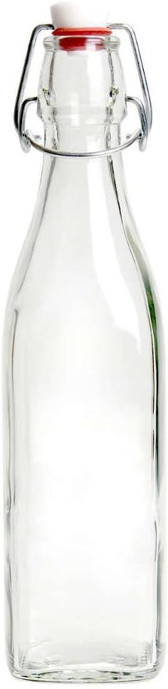 BUTLERS SWING Botella de vidrio con tapón mecánico