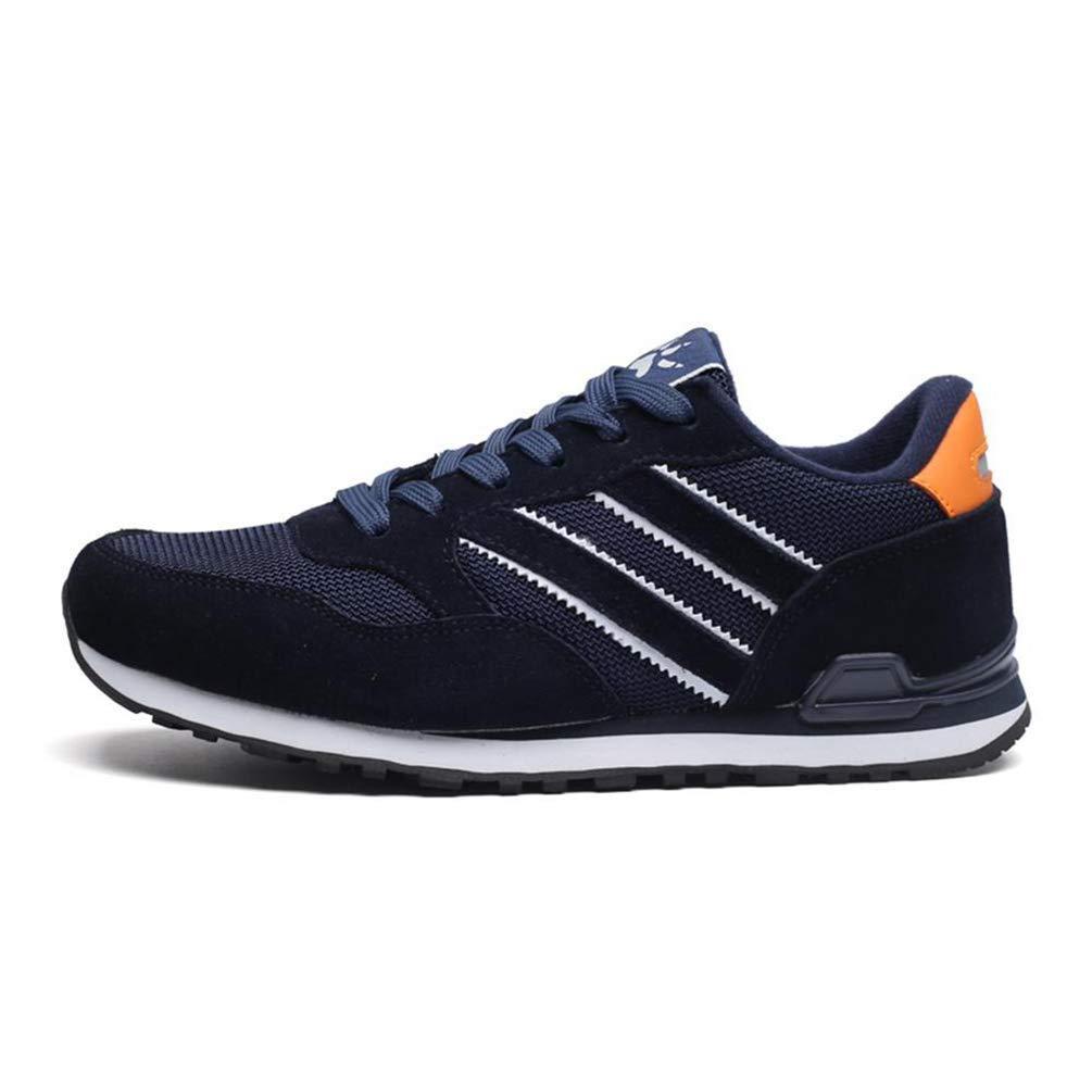 Herren Turnschuhe Breathable Bequeme beiläufige Schuhe schnüren Sich Oben Footware (Farbe   Blau, Größe   7UK=41 EU)