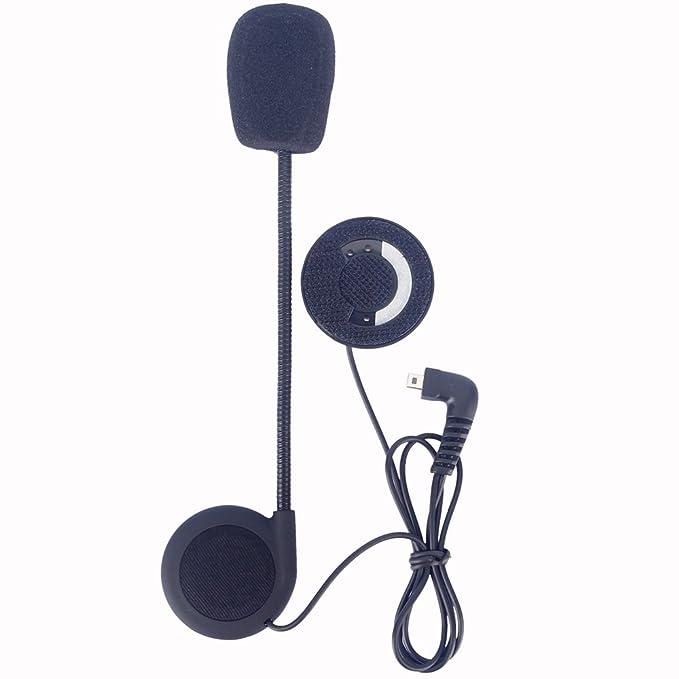 FDC - Juego de pinzas de micrófono Auriculares de altavoz y accesorios para casco de motocicleta Bluetooth interphone auriculares de comunicación de Fdc: ...