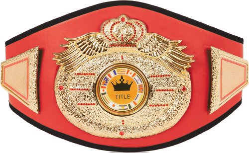 Boxing Title Belt (Wings Of Prey Gold Nugget Title Belt, Red)