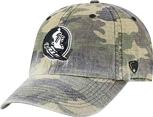 Top of the World Florida State Seminoles Official NCAA Adjustable Heroes Woodland Camo Hat Cap 420240