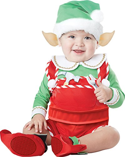 California Costumes Unisex-Baby Infant Santa's Lil Helper, Green/Red, (Elf Costume For Baby)