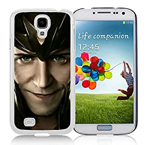 Unique And Antiskid Designed Cover Case For Samsung Galaxy S4 I9500 i337 M919 i545 r970 l720 With Loki Face Asgard White Phone Case