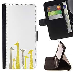 Momo Phone Case / Flip Funda de Cuero Case Cover - Jirafa Dibujo minimalista Limpio Blanca - Sony Xperia Z3 Compact