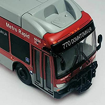 Iconic Replicas New Flyer Excelsior Bus LA Metro Rapid Bus 1/87 Scale- HO Scale New! Limited Edition! Los Angeles California: Toys & Games