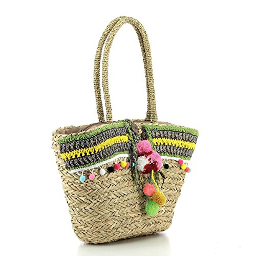 Borsa Pomikaki Bag 8226t Woman Multicolore Mano Made Capri Donna A Hand wqwI84dRx