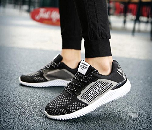 Entrenamiento Correr Correr Lace-up Hombre Breathable Ligero Low Top No-deslizante Sofe Único Sporting Zapatos EU Tamaño 39-44 Black