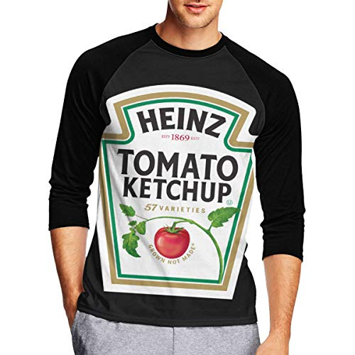 (Mens Long Sleeve T Shirts, Heinz Tomato Ketchup Long Sleeve Tee Classic Casual Jersey)