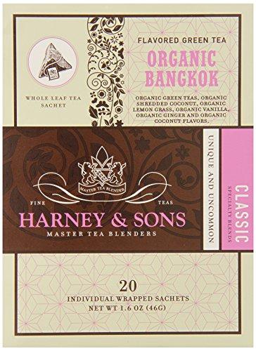 - Harney & Sons Fine Teas Organic Bangkok - 20 Wrapped Sachets, 1.6 Ounce