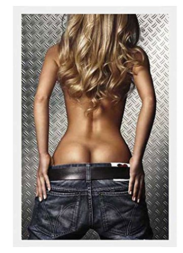 Denim Girl - Photography Poster (Sexy Girl in Jeans) (Size: 24 x 36) Poster Print, 24x36