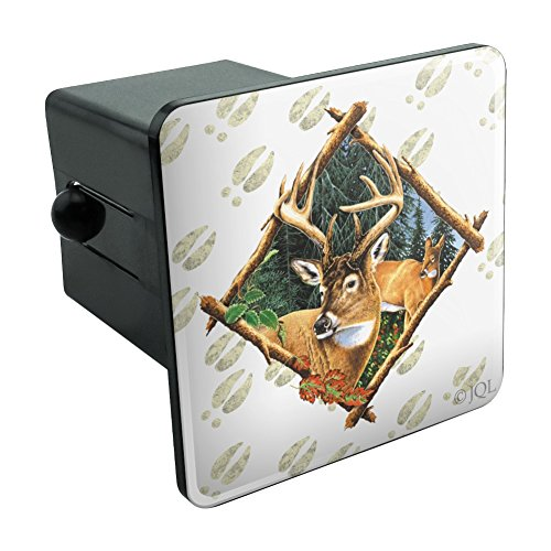 """Graphics and More Deer Diamond Buck Hunting Tow Trailer Hitch Cover Plug Insert 2"""""""
