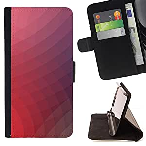 KingStore / Leather Etui en cuir / Samsung Galaxy S3 MINI 8190 / Neon Pink Remolinos