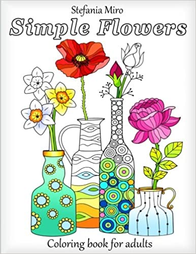 Amazon.com: Simple Flowers: Coloring Book for Adults ...