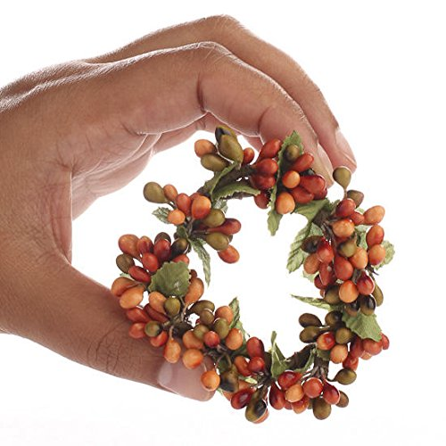 Factory Direct Craft Group of 4 Plump Autumn Pip Berry Miniature Candle or Napkin Rings by Factory Direct Craft (Image #2)
