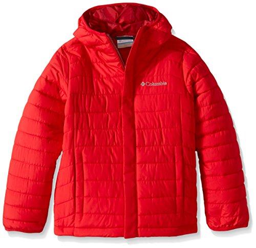 Columbia Big Boys' Powder Lite Puffer Jacket, Mountain Red,Large (14/16)