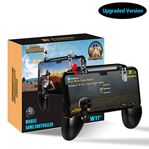 ([2019 Upgrade Version] Mobile Game Controller,Wemaker PUBG Mobile Controller Sensitive Shoot Aim Joysticks Triggers Gamepad for PUBG/Knives Out, Support 4.7-6.5 inch Smartphone)