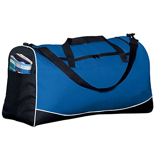 Augusta Sportswear Large Tri-color Sport Bag OS Royal/Black/White (Tri Sport Color Bag)