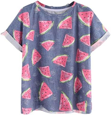 Women – Camiseta, Transer® Fashion Mujeres sandías manga ...