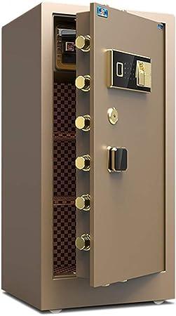 Inicio Caja fuerte, Caja fuerte con capacidad digital de seguridad electrónica, caja de la cerradura armarios, Fuerte de dinero, joyas Cajas fuertes de armas (Color : Coffee , Size : 50x45x100cm) : Amazon.es: Hogar