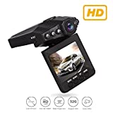 Dash Video, Dash Cam for Cars with Night Vision/HD IR Dash Cam 270 Degrees Rotatable Camera Video Recorder/Traffic Dashboard Camcorder Loop Recording-No Card (6lights DashCam)