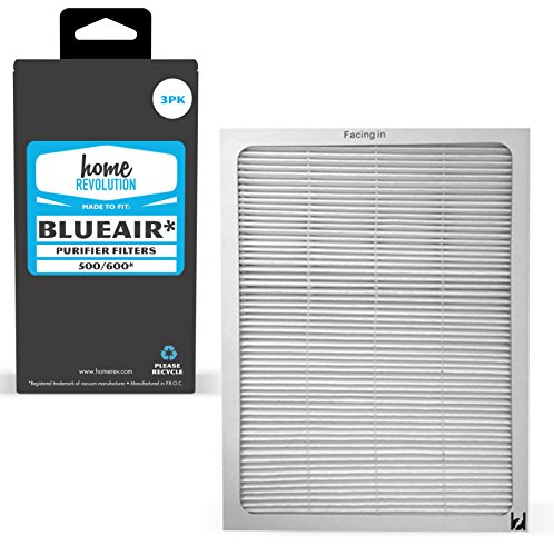 Home Revolution 3 Replacement HEPA Filters, Fits Blueair 500/600 Series 501, 503, 505, 510, 550E, 555EB, 601, 603, 605, 650E Air Purifier Models
