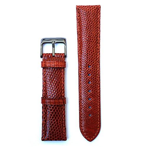 Brown 20 Millimeters Genuine Lizard Skin Watch Strap (Genuine Lizard Skin)
