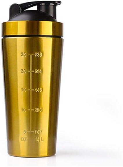 Vaso de acero inoxidable para fitness, proteína en polvo, con ...