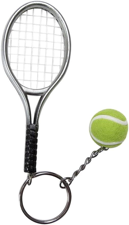 Gran llavero, joyas de bolsa raqueta + pelota de tenis.: Amazon.es ...