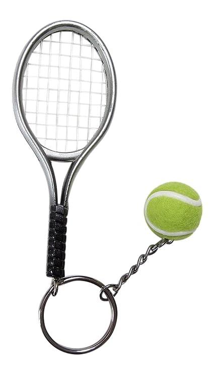Gran llavero, joyas de bolsa raqueta + pelota de tenis ...