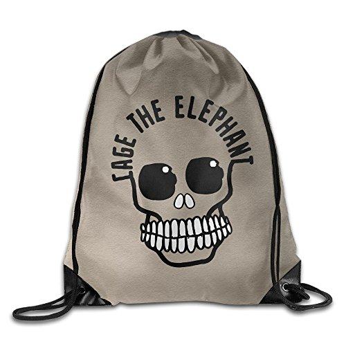 - CYSKA Custom Cage The Elephant Band Skull New Drawstring Backpack White