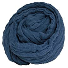 "Large Steel Blue Color Cheesecloth wrap 36"" X 72"" (3ft X 6ft) by Posey Pillow"