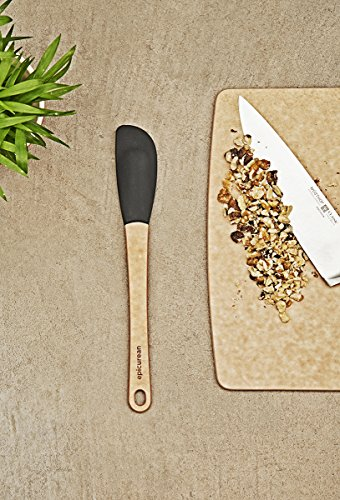 Epicurean Silicone Series Utensils, Small Spatula, Natural with Black