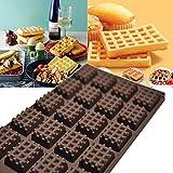 Kitchen 20-Cavity Silicone Mini Round Waffles Pan