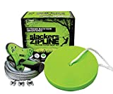 Slackers Falcon Flyer Zipline Kit Backyard, Green, 40'