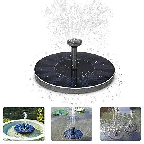 Vievogue Solar Fountain Power Pump, 1.4W Solar Powered Bird Bath Water Fountain Panel Birdbath Outdoor Small Mini Fountain Kit, for Fish tank, Pond, Pool, Garden Decoration, Water Cycling Black by Vievogue