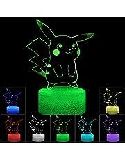 3D illusie LED nachtlampje, 7 kleuren geleidelijk wisselende touch schakelaar USB tafellamp voor kerstcadeaus of hoofddecoraties (Crack Style)